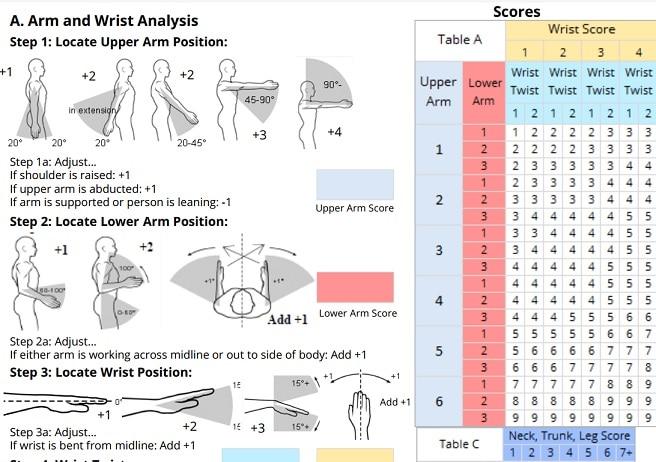 RULA метод за ергономична оценка