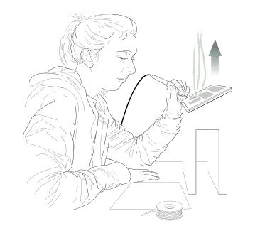 Soldering Working posture